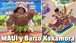 Maui y Barco Kakamora/ Juego Disney Magic Kingdoms