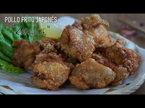 Pollo frito japonés o Pollo Karaage (から揚げ) - Chicken Karaage recipe