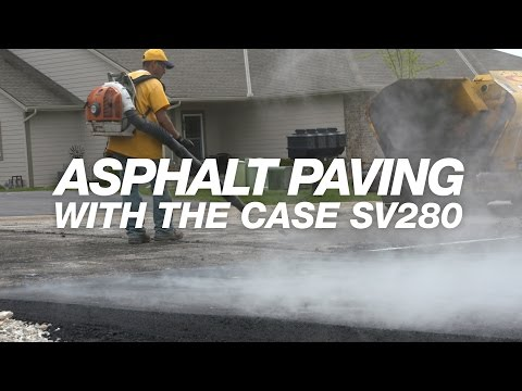 North America: CASE SV280 Takes Heat, Demands of Asphalt Paving