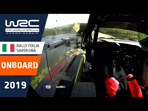 WRC ラリー・イタリア・サルディニア 2019年のSS15を走るタナックのオンボード映像