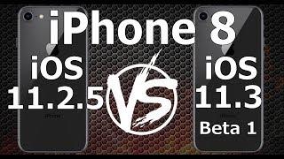 iPhone 8 : iOS 11.3 Beta 1 vs iOS 11.2.5 Speed Test Build 15E51167f