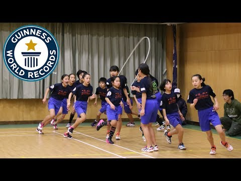 Incredible team skipping challenge – Guinness World Records