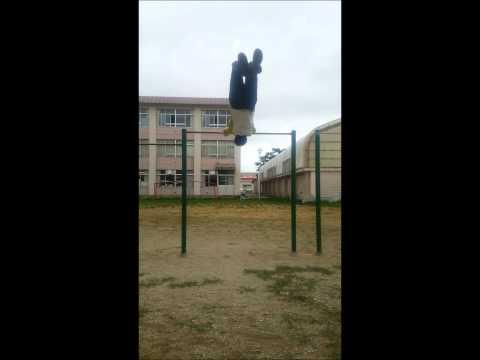 函館市立港小学校で大車輪