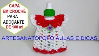 14eab37c0 Crochê Vestidinho Pega Panelas | Agulha Italiana - Shylla Gavioli