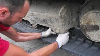 Осмотр и проверка ходовой части гусеничного мини экскаватора - Спецтехника39
