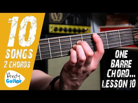SONG 10 'Born In the USA' (Springsteen - No Capo) // 10 SONGS WITH 2 CHORDS 1 BARRE CHORD