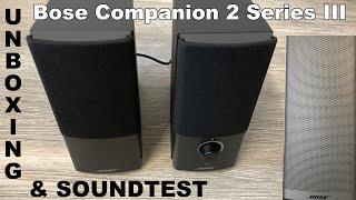 Bose Companion 2 Serie III Multimedia Lautsprechersystem schwarz | Unboxing & II Vs. III Soundtest
