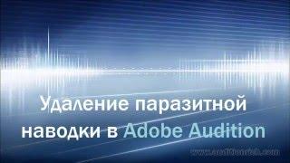 Удаление паразитной наводки в Adobe Audition | Запись голоса | Auditionrich.com