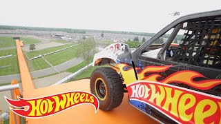The Yellow Drivers World Record Jump (Tanner Foust) | Team Hot Wheels | Hot Wheels
