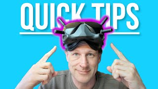 Tips and Tricks for DJI FPV Goggles