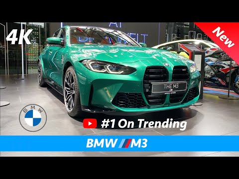 BMW M3 2021 - FIRST Quick look in 4K   Interior - Exterior (Isle of Man Green)