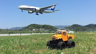 TAMIYA GF-01 Runs In The Park Near The Airport
