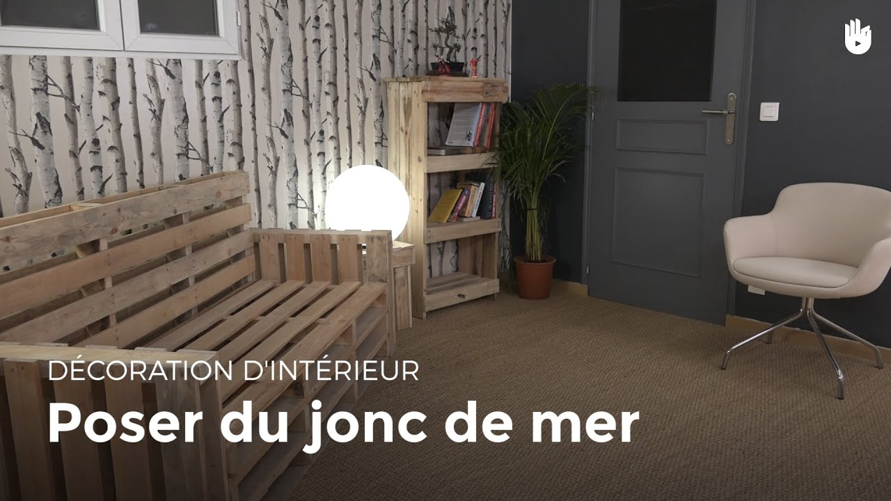 poser du jonc de mer diy les basiques du bricolage sikana. Black Bedroom Furniture Sets. Home Design Ideas
