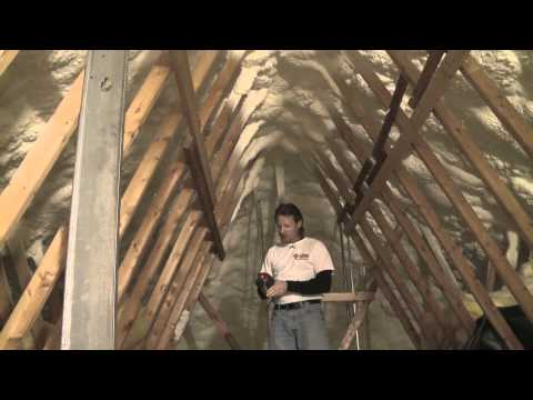 The typical attic is vented and not considered part of the conditioned space of the building. Attics are...