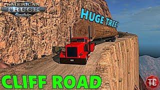 American Truck Simulator: MASSIVE TREE vs CLIFF ROAD!