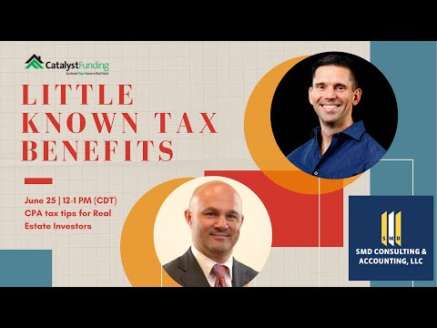 Tax Benefits For Investors – What You Need to Know with SMD Consulting
