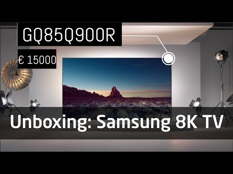 Unboxing: Samsung Q900R 85 Zoll 8K TV