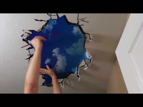 Fanhome 3D Break Through the Wall Vinyl Wall Sticker