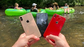 I Found 3 iPhone X's Underwater in the River at Waterpark! (Returned to Owners)