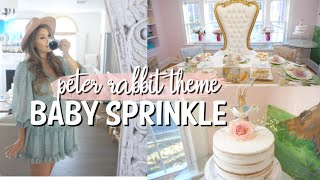 PETER RABBIT BABY SPRINKLE | BABY #2 SURPRISE GENDER | DITL VLOG SPRING SHOWER