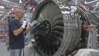 Rolls Royce Trent production of turbojet engines - YouTube