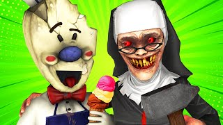 Мороженщик VS Злая Монахиня (Секретная Концовка Пародия Ice Scream 3 Evil Nun Хоррор 3D Анимация)