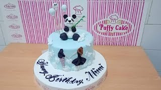 Panda Topper Cake, Decorations-Howto & Style