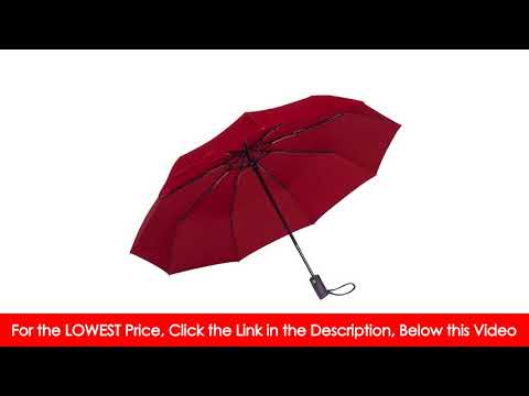 Rain-Mate Compact Travel Umbrella - Windproof, Reinforced Canopy, Ergonomic Handle, Auto...
