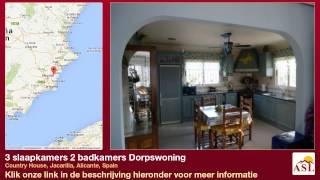preview picture of video '3 slaapkamers 2 badkamers Dorpswoning te Koop in Country House, Jacarilla, Alicante, Spain'