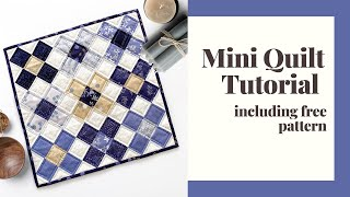 Mini Quilt Tutorial With Free Pattern   Zen Chic