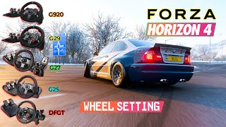 best steering wheel settings for forza horizon 4 xbox one