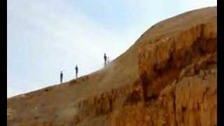 preview picture of video 'Mountain biking. Israel.  Arad - Dead Sea (along the Nahal Bokek).'