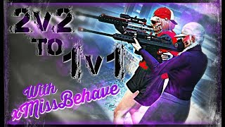 GTA 5 online - 2v2 Turns 1v1 w/xMissBehave || Trolling Tryhards in a TAXI?!