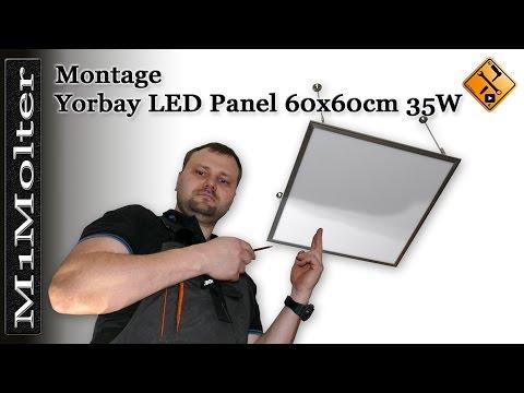 Einbau Yorbay LED Panel 60x60cm 35W Deckenleuchte Pendelleuchte