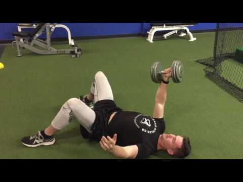 Dumbbell One-Arm Floor Press