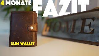 Fazit nach 4 Monaten im Test: Donbolso Slim Wallet mit Münzfach - Leder, RFID Blocker - deutsch