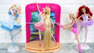 Ballerina Barbie in Pink Shoes Ballet Studio & Stage balet putri boneka Barbie Bailarina Boneca