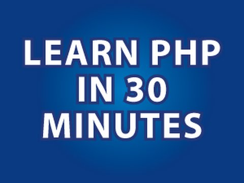 Learn PHP in one video