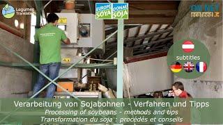 Verarbeitung von Sojabohnen - Verfahren und Tipps