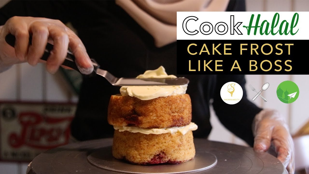 Cook Halal with Sherramelts: How to frost a cake [Video]