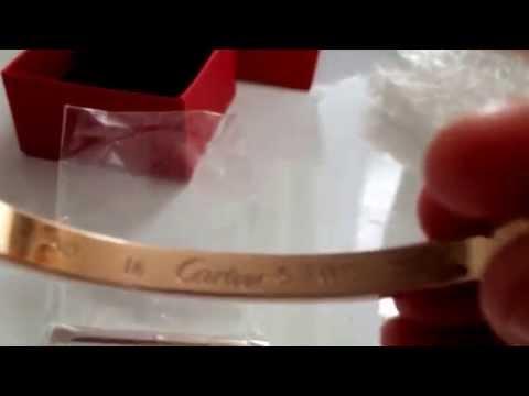 review on fake Cartier love bracelet.