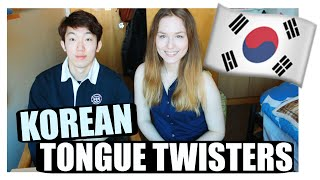 Foreigner Attempts Korean Tongue Twisters