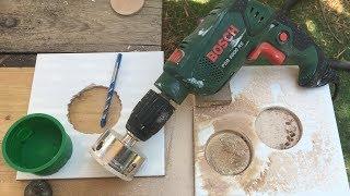 איך לעשות פתח עגול גדול בקרמיקה | חור לשקע חשמלי בקרמיקה