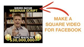 How To Make A SQUARE Facebook Video Meme on MAC & PC