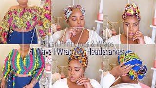 4 Ways To Wear Head Wraps | African Print Crop Top & Scarf Try-On | IAmZani | Plus Size