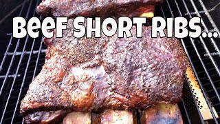 A Beginners Guide  To Smoking Beef Short Ribs!!