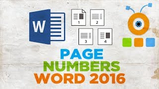 How to Number Pages in Word 2016   How to Add Page Numbers in Word 2016
