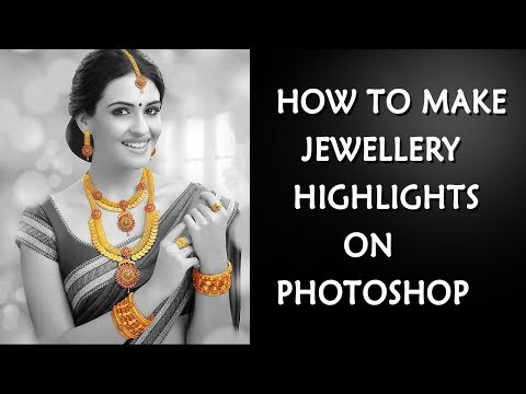 How to Make Gold Jewellery Highlight Effect  tutorial on photoshop for begners | Srinu photo editing