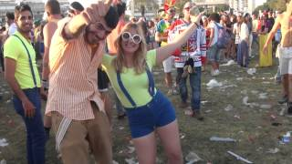preview picture of video 'Purim Street Party Tel aviv 2015 with DJ Astrix'