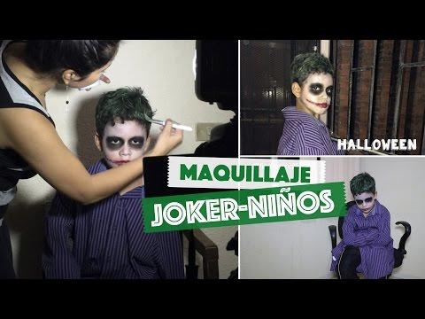Maquillaje Joker / Guasón para Niños Fácil - Halloween   #ViernesconKarla :) - Fem Life